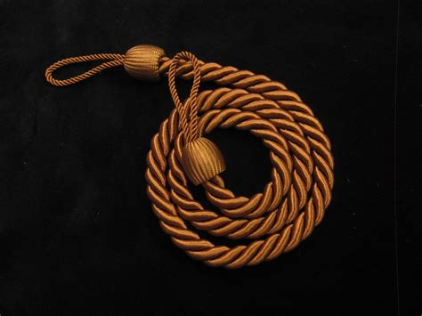 curtain cord 2 rope curtain tiebacks brown slender slinky cord drape
