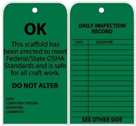 printable scaffold tags scaffold status tag ok green