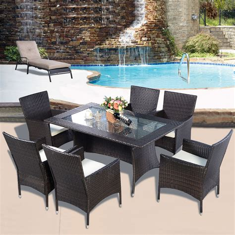 rattan patio dining set rattan furniture dining tabl chairs dining set outdoor