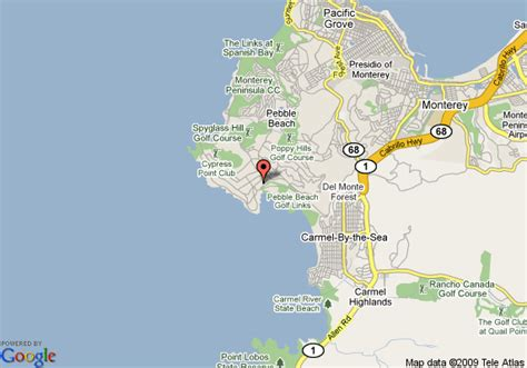 pebble california map map of the lodge at pebble pebble