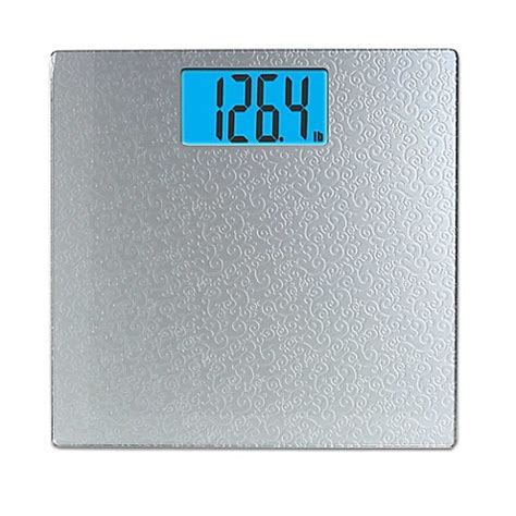 bed bath beyond bathroom scale taylor digital bathroom scale with scroll design in silver