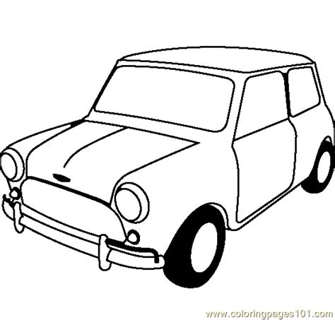mini car coloring pages