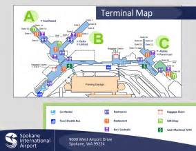 airport map spokane intl airport gt terminal gt terminal map