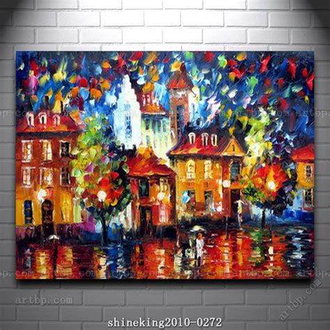 famous modern art colorful palette knife oil painting on canvas modern