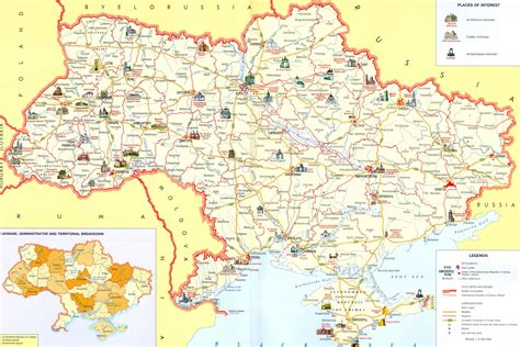 ua map maps of ukraine official travel website and guide of ukraine