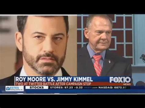 roy moore jimmy kimmel twitter roy moore in twitter feud with jimmy kimmel youtube