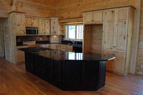 Unfinished Pine Kitchen Cabinets Cool Unfinished Pine Kitchen Cabinets On Kitchen With Pine Cabinets Black Appliances Knotty Pine