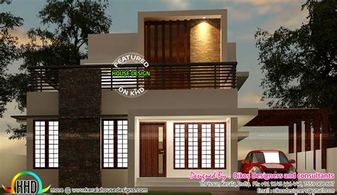 Floor Plan Elevation budget house with simple and elegant contemporary design