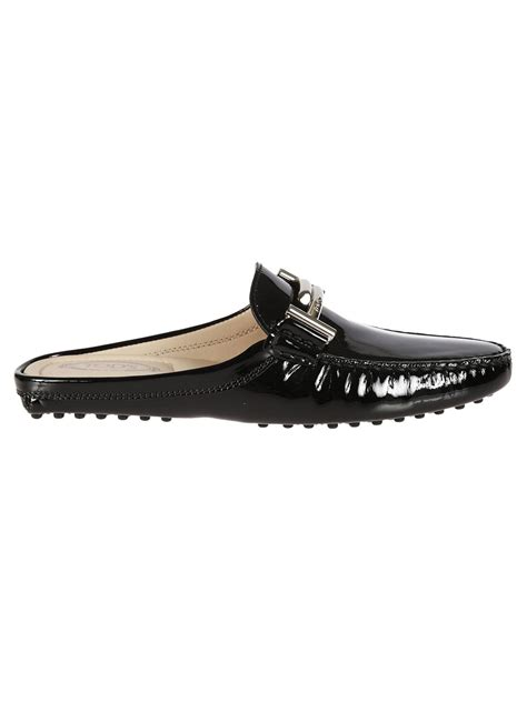 backless loafers womens tod s tod s backless loafers black s flat shoes