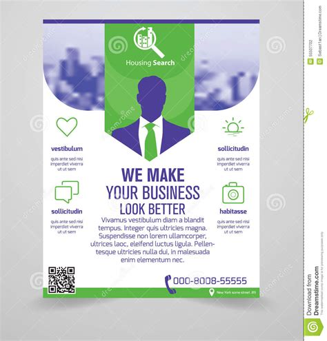 generic flyer template business flyer template stock vector image 55507702