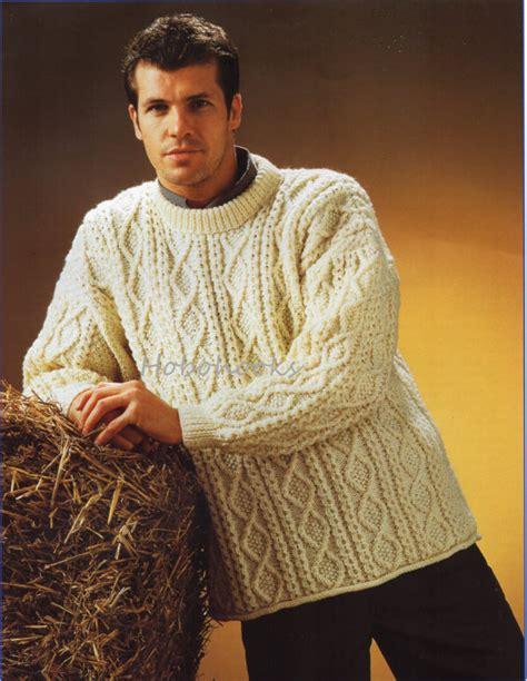 free knitting patterns for mens aran sweaters mens aran sweater knitting pattern pdf larger sizes mens aran