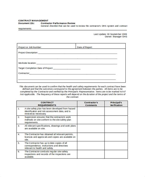 performance review template doc performance review template 11 free word pdf documents
