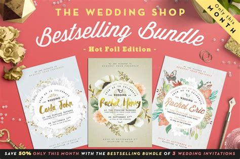 Wedding Invitation Bundles by 90 Gorgeous Wedding Invitation Templates Design Shack