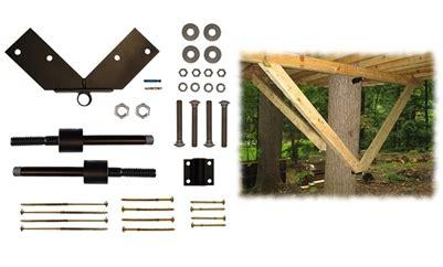 tree house kit tri beam standard kit tab treehouse bolts hardware