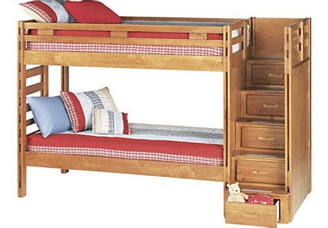 roomstogokids bunk beds creekside taffy 3 pc step bunk bed at rooms to
