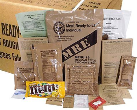 What Is The Shelf Of Mre Meals mres box b genuine u s surplus