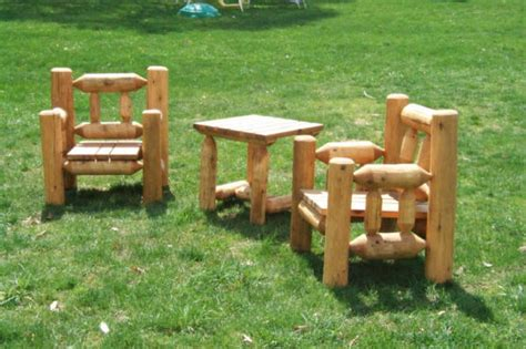 Log Patio Furniture by Custom Log Furniture