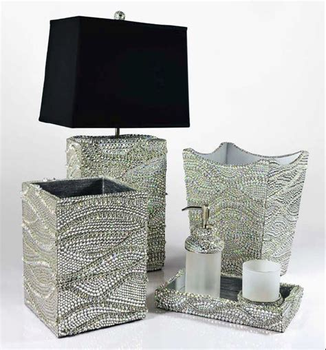 mike ally gatsby silver bath set with crystals j