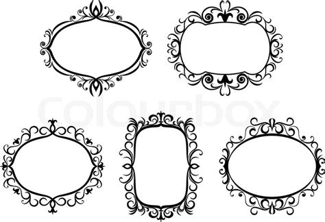 Gothic Revival Home Antique Vintage Frames And Borders Isolated On White For