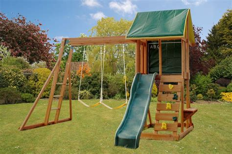 climbing frame and swing meadowside ii climbing frame slide rockwall swings