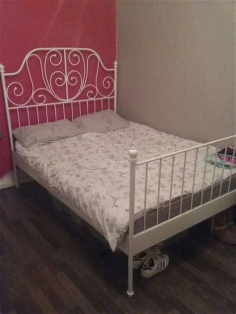 ikea white metal bed frame ikea white metal frame double bed for sale in dublin 8