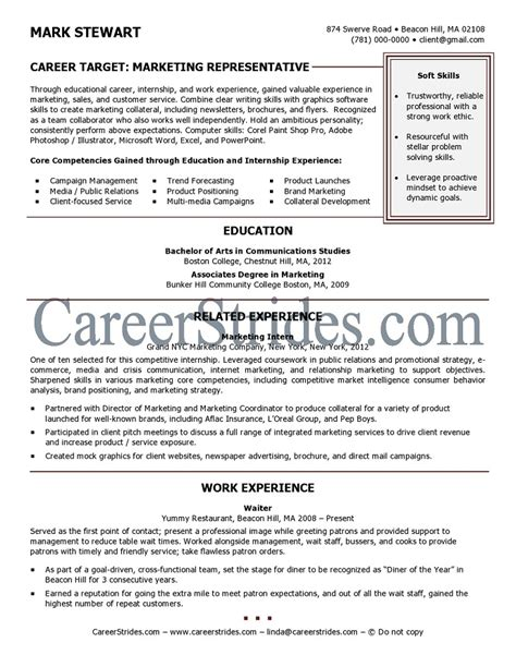 resume sle of a recent college graduate by a nationally certified resume writer