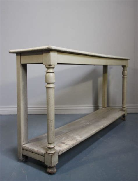 French Antique Painted Oak Console Table Antiques Atlas Painted Sofa Tables