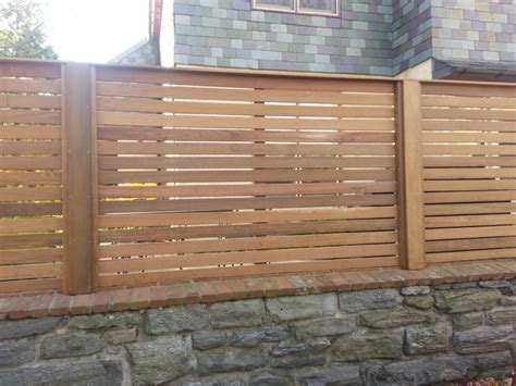 horizontal wood fence custom wooden fencing in the philadelphia area
