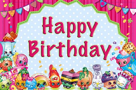 shopkins happy birthday banner printable shopkins birthday banner blue polka dots