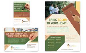 ad templates painter painting contractor flyer ad template design