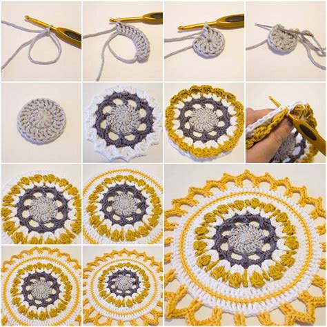 Handmade Mandala - how to make handmade crochet mandala step by step diy