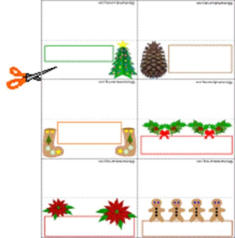 printable christmas table place name cards christmas placecards enchanted learning software