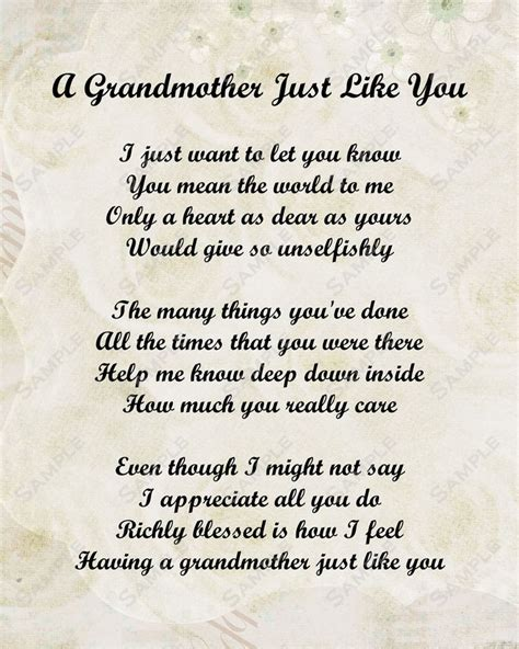 Grandmother poem on pinterest poems for grandma poems and nana