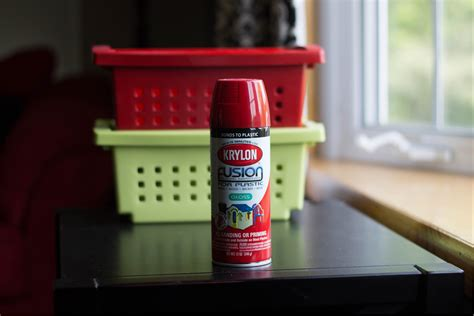 spray paint plastic bins i planners