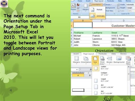 page layout ms excel 2010 pagelayout data tab of ms excel 2010