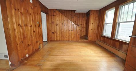 Knotty Pine Wainscoting by Sopo Cottage Dining Room And Foyer Before And After
