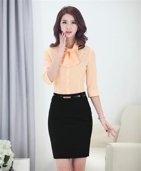 moda de oficina de mujer en pinterest faldas vestidos y promoci 243 n de uniformes de oficina para damas compra