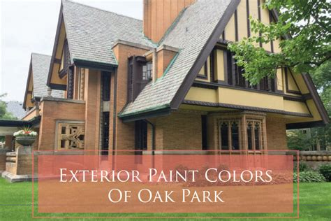 historic paint colors in frank lloyd wright s oak park