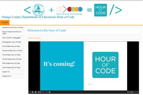 hour of code hour of code orange county department of education