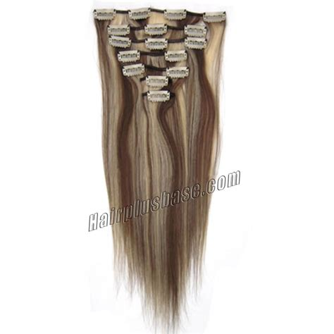 30 inch human hair extensions 30 inch 8 613 brown clip in remy human hair
