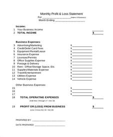 quarterly profit and loss template sle profit and loss statement 9 documents in pdf excel
