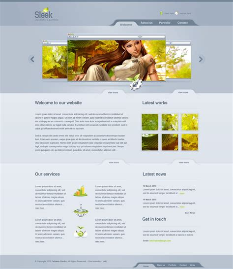 design layout web online sleek design web 2 0 layout by detrans on deviantart