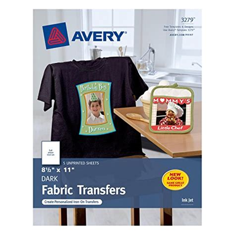 avery printable fabric reviews avery inkjet iron on dark t shirt transfers white five
