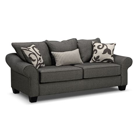 couch city colette sofa gray value city furniture