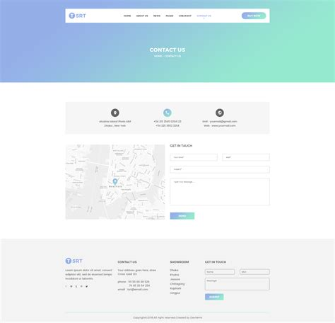 Tsrt Single Product Psd Template By Shopify Themes Themeforest Contact Us Page Template Html