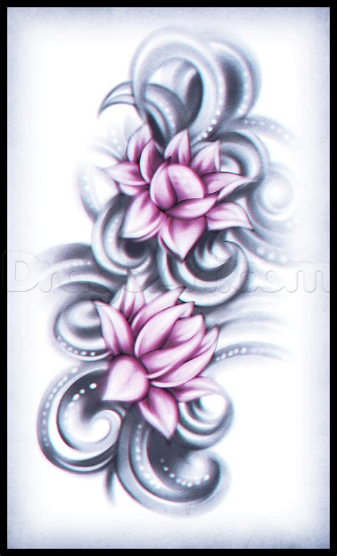 tattoos to draw how to draw a lotus flower step by step tattoos