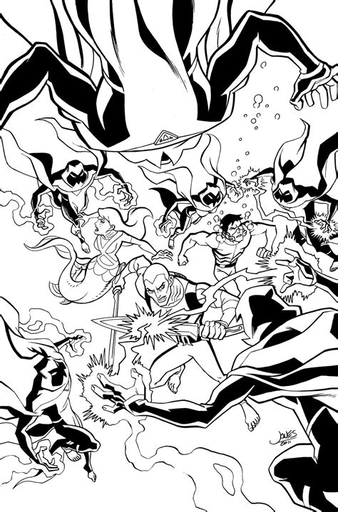 free coloring pages of young justice league