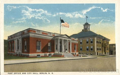 New Berlin Post Office Hours by Post Office And City Berlin Nh Postcard