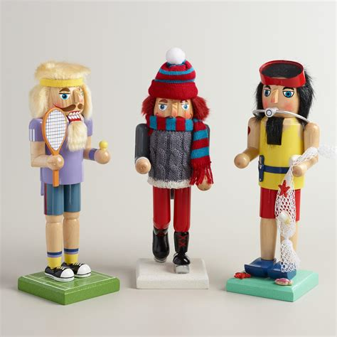 recreational sports nutcrackers set of 3 world market