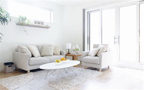 White Sofa Living Room Designs by Modern Soft Living Room Design With White Sofa Pillow